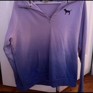 Victoria's Secret Ombre Quarter Zip Sweatshirt